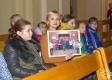 The teacher A. A. Avlasko with students. Polotsk, 2018